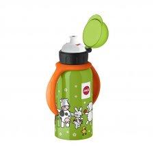 Фляжка питьевая детская с ручками 0.4л, Веселая ферма
