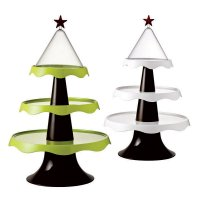Этажерка новогодняя Qualy Merry Tree белая